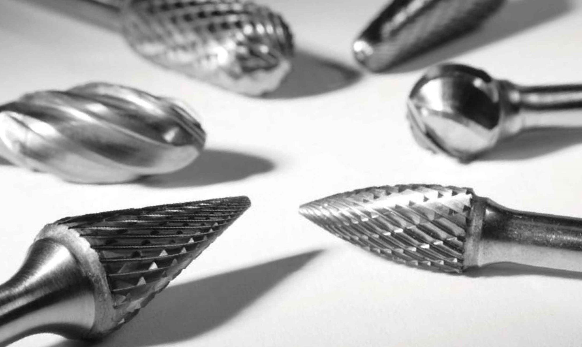 Frese e lime rotative in metallo duro